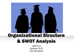 Organizational Structure & SWOT Analysis