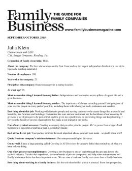 Julia Klein - WomenCorporateDirectors