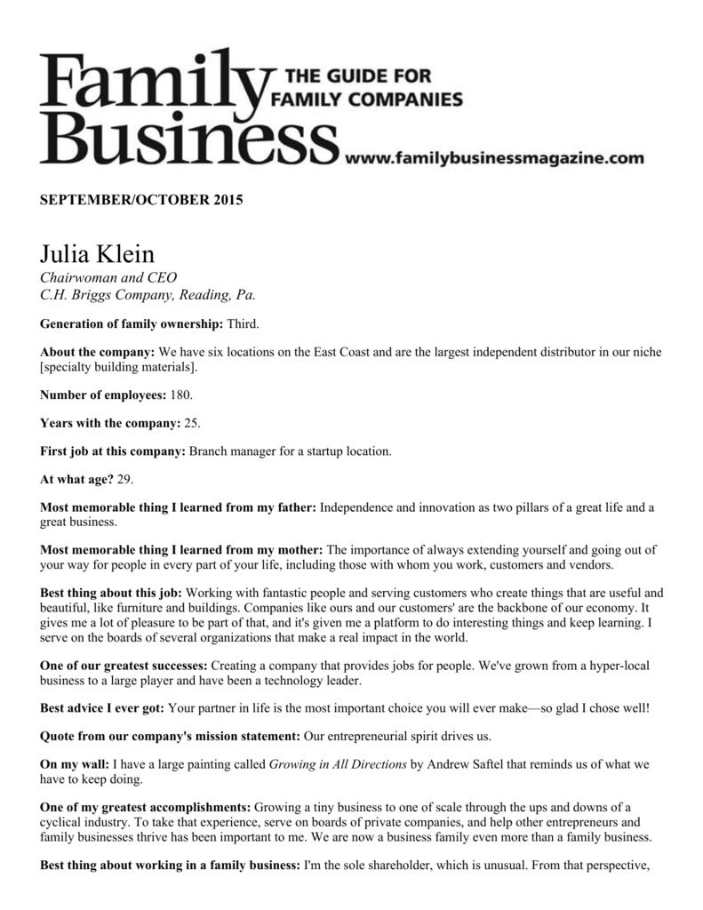 Julia Klein - WomenCorporateDirectors
