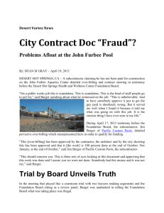 "City Contract Doc ""Fraud""?"