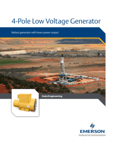 4-Pole Low Voltage Generator - Emerson Industrial Automation