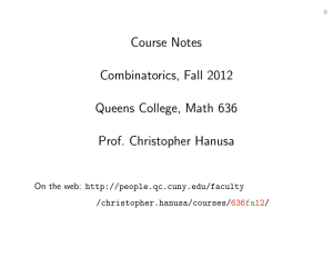 Course Notes Combinatorics, Fall 2012 Queens College, Math 636