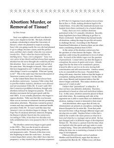 Abortion: Murder-Or Removal of Tissue? by Dane Inouye