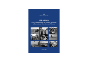 Strategy of the Participation of the Republic of Slovenia in