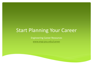 Start Planning Your Career