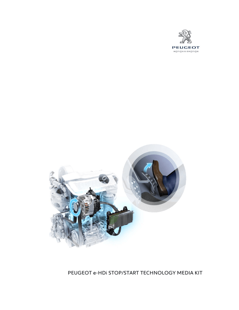 PEUGEOT e-HDi STOP/START TECHNOLOGY MEDIA KIT