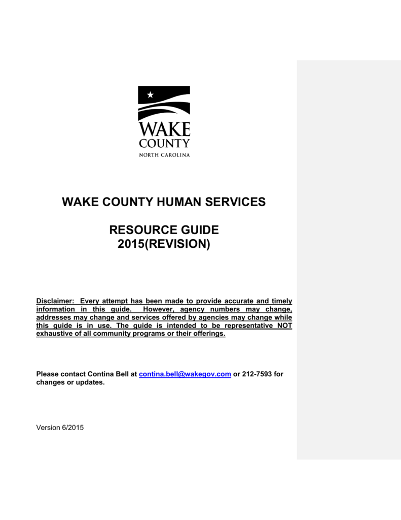 Wake county human services resource guide 2015revision 1betcityfo Image collections