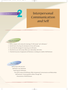 Interpersonal Communication and Self