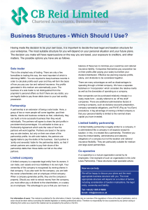 Business Structures - Which Should I Use?