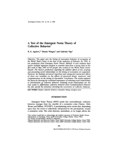 A Test of the Emergent Norm Theory of Collective Behavior