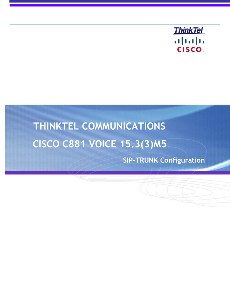 Cisco C881 Voice 15 3 (3)M5 - Interop Doc