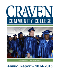 Annual Report 2014-2015 - Craven Community College