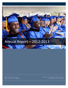 Annual Report ? 2012-2013 - Craven Community College