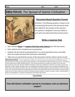 DBQ FOCUS: The Spread of Islamic Civilization