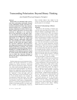 Transcending Polarization: Beyond Binary Thinking