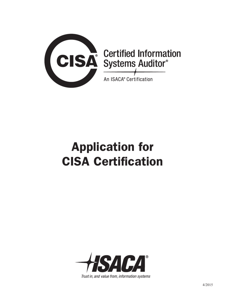 Application For Cisa Certification