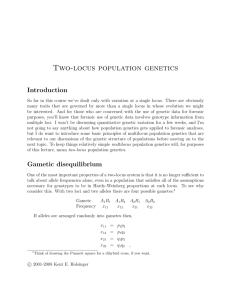 Two-locus population genetics