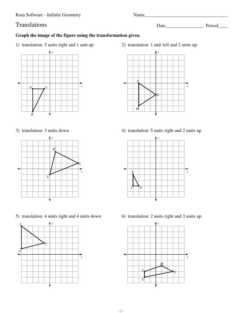 Kuta Software Infinite Geometry All Transformations Worksheet Answers