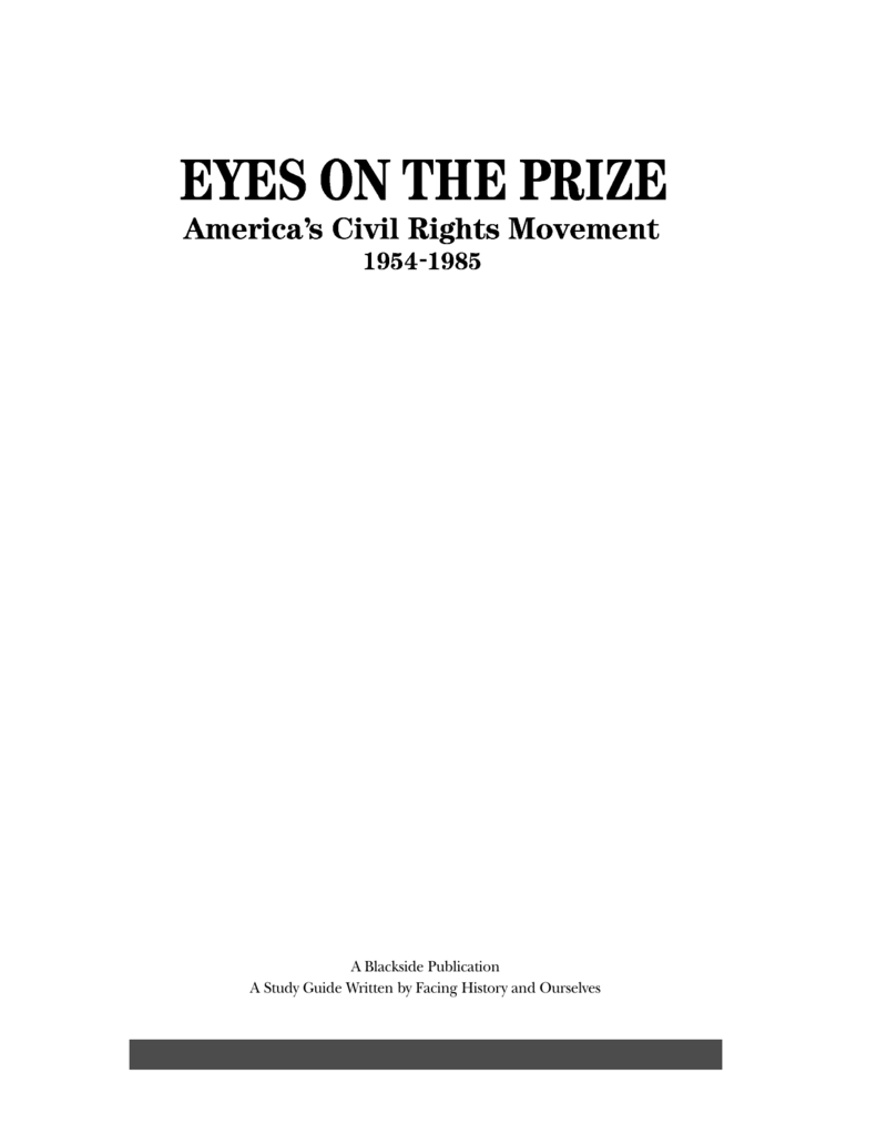 worksheet Eyes On The Prize Worksheet study guide for eyes on the prize