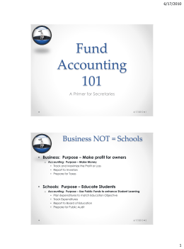 Fund Accounting 101
