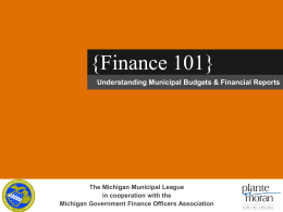Finance 101 – Understanding Municipal Budgets