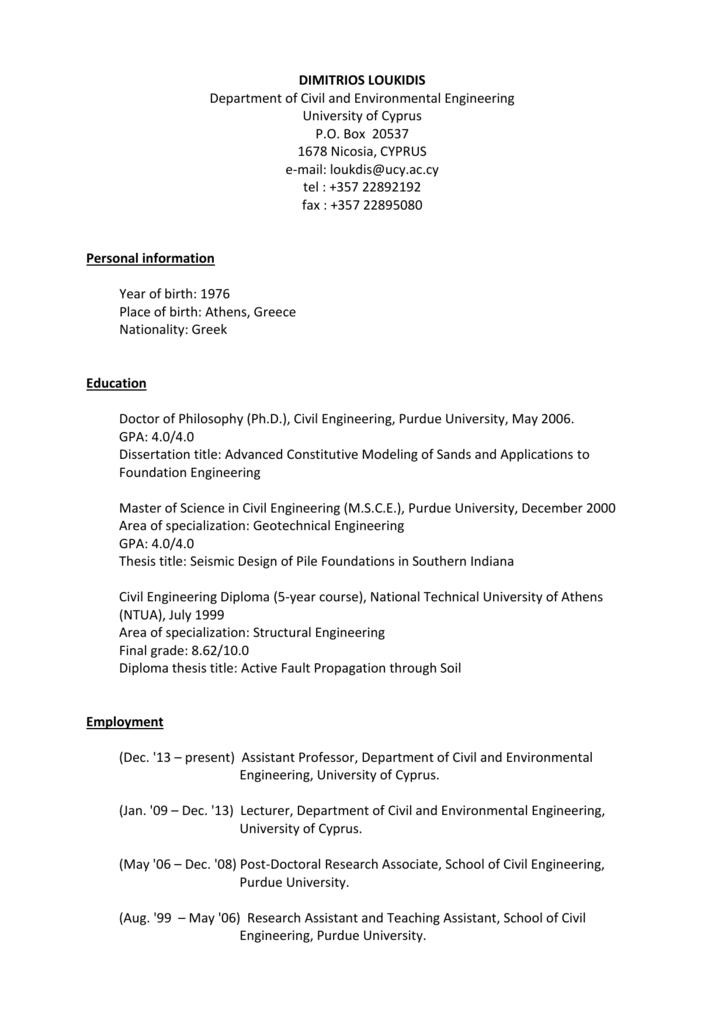 Phd thesis civil engineering
