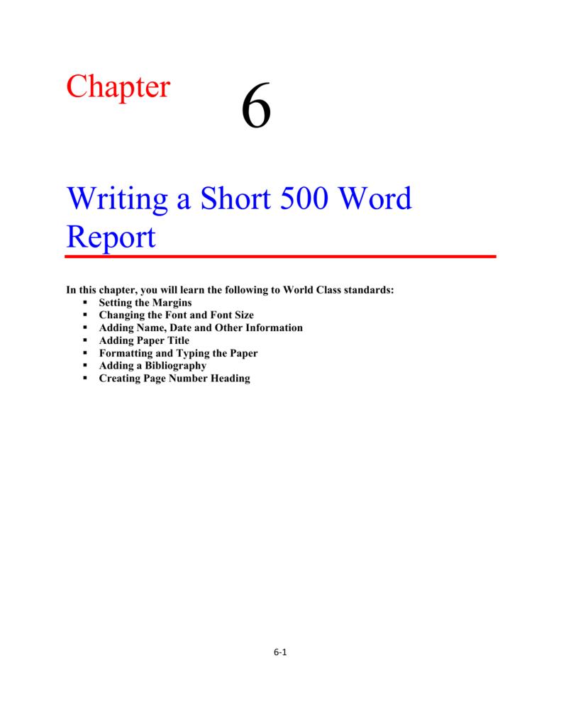 500 word report