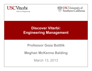 Discover Viterbi: Engineering Management