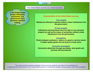 The United States economy is a mixed economy. C.E.9c