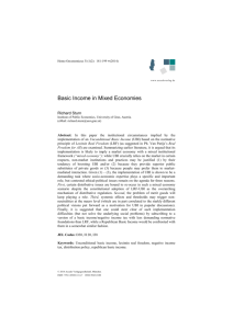 Basic Income in Mixed Economies