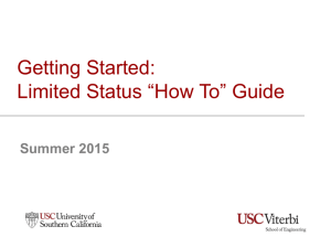 "Getting Started: Limited Status ""How To"" Guide"