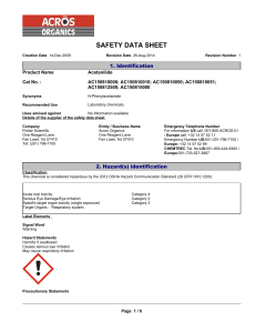 safety data sheet - Fisher Scientific