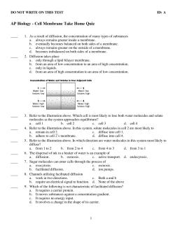 Ap bio take home exam