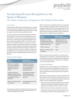 Accelerating Revenue Recognition to the Speed of Business