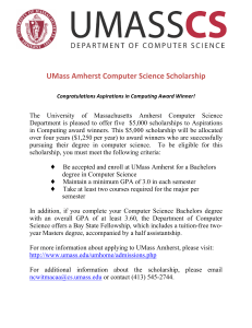 UMass Amherst Computer Science Scholarship