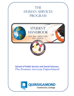 THE HuMAN SERVICES PROGRAM