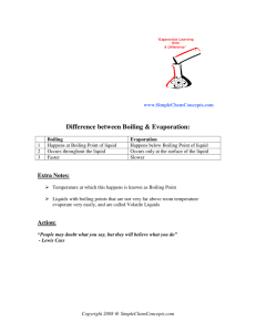 Difference between Boiling & Evaporation