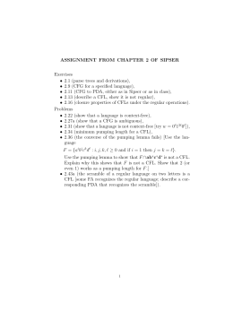 ASSIGNMENT FROM CHAPTER 2 OF SIPSER Exercises • 2.1