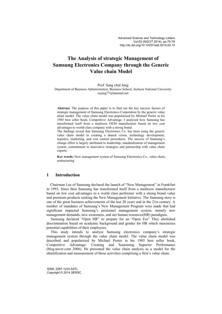 samsung value chain analysis