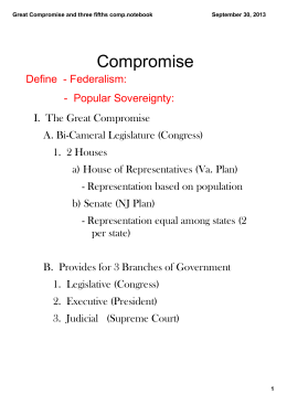 Great Compromise and three fifths comp.notebook