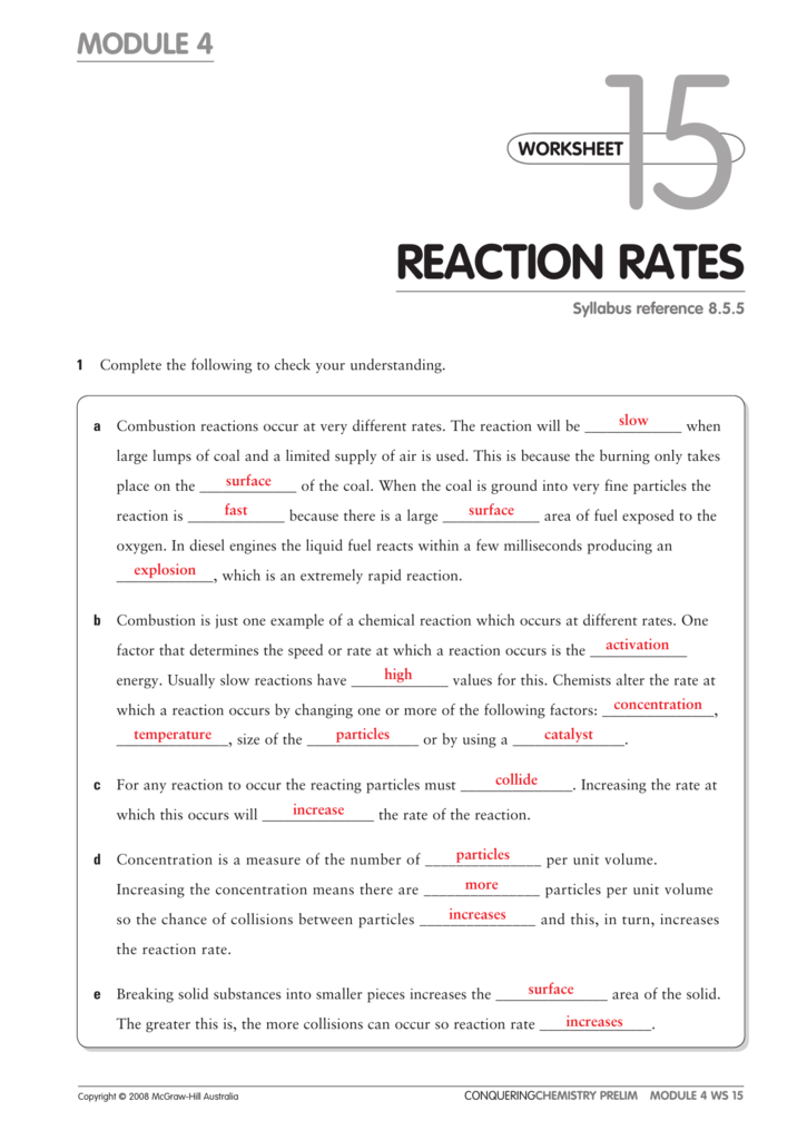 Reaction Rates. 0081887361d22dd5a10ddb009912a2f2ce1b81ff1d. Worksheet. Worksheet Reaction Rates Chemistry A Study Of Matter Answers At Clickcart.co