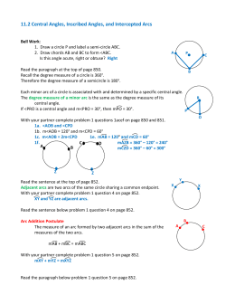 write a conjecture about all the inscribed angles that intercept the same arc