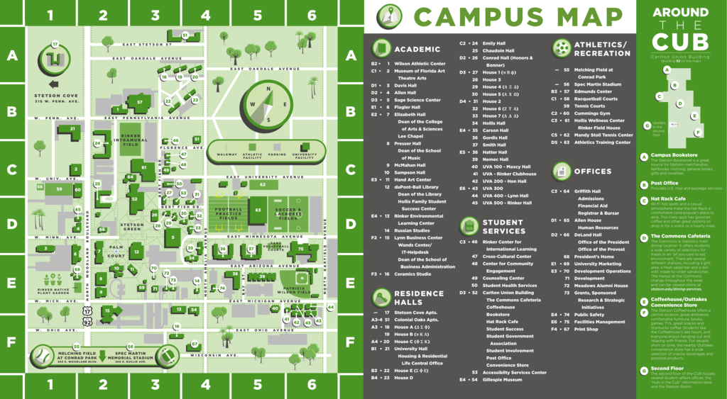 Stetson Campus Map Campus Map   Stetson University