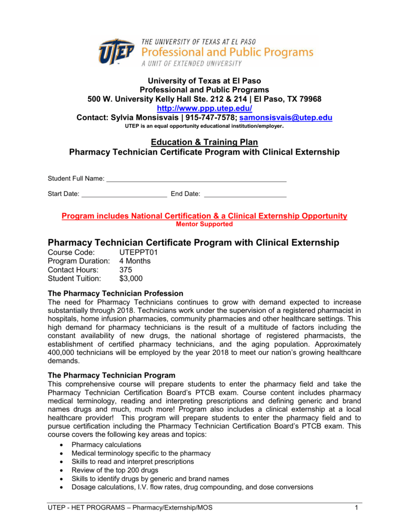 Pharmacy technician professional and public programs 1betcityfo Gallery