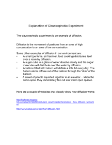 Explanation of Claustrophobia Experiment