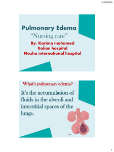 "Pulmonary Edema ""Nursing care"""