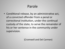 corrections paper sentencing For the crime and justice institute  this paper was developed as part of a set of papers focused on state sentencing and corrections policy reforms.