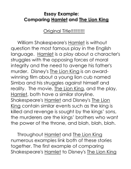 "comparative essay hamlet vs king lear essay 55 awesome ""king lear"" essay topics for everyone he is the  compare and  contrast the forms of insanity of ""hamlet"" and ""king lear"" 7."
