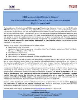 cii iq manufacturing mission to germany