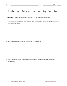 English Reformation Worksheets | KS3 &amp- KS4 Lesson Resources | Year ...